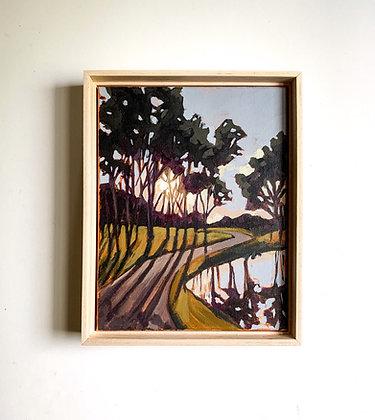 Purple Hour, Original Acrylic Painting