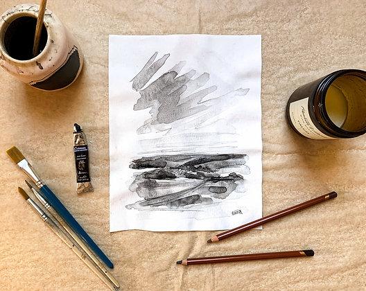 Overlook, Ink Study