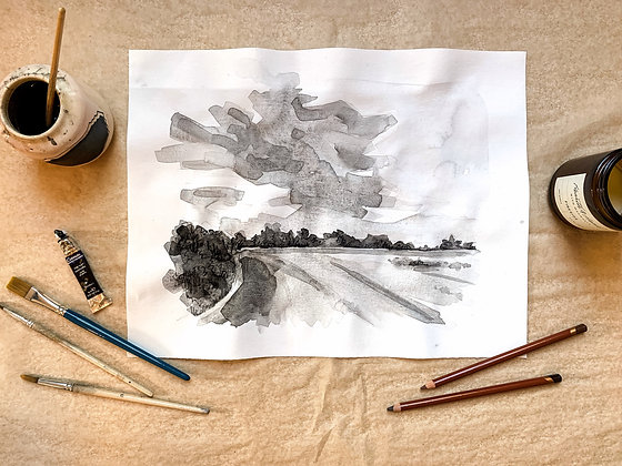 Madden Farm, Ink Study