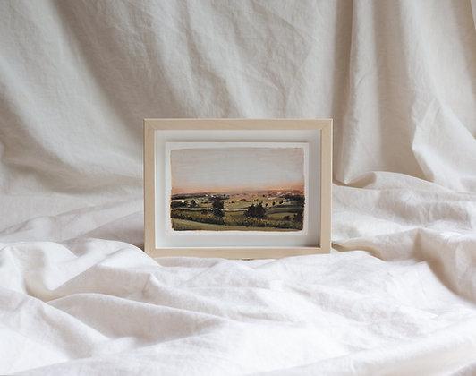 """Terracotta Sunset Study""Original Painting"