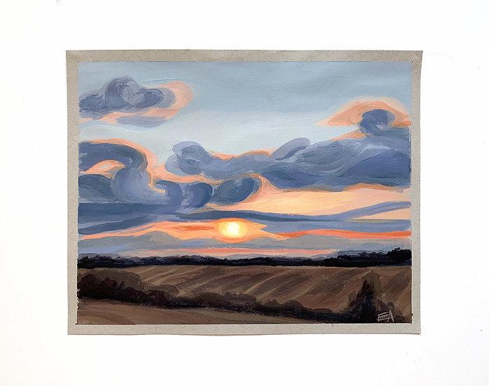 January Sunset Print