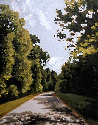 Summer Bike Ride, Original Acrylic Painting