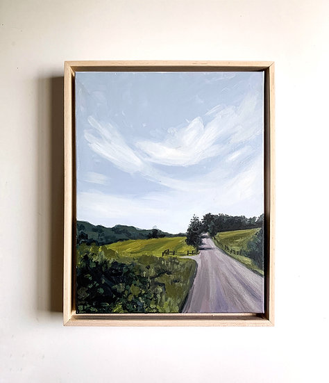 Down the Lane, Original Acrylic Painting