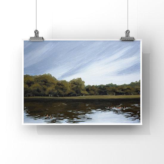 """""""A Dip in Lake Hope"""" Print"""