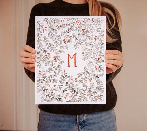 christmas letter customizable print