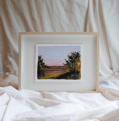 """Madden Farm Sunset"" Original Painting"