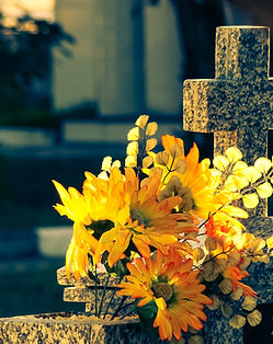 Flowers in Jazigo do Cemetery Jardim da