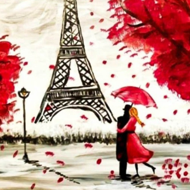 BrownGurls Romance in Paris! (Paint & Sip Studio, NYC)