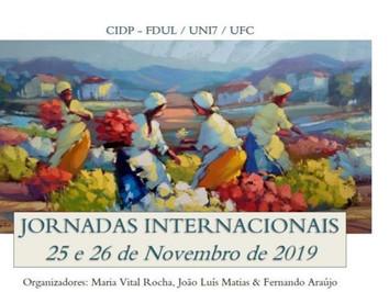 Jornadas Internacionais da UNI7 da Universidade de Lisboa (FDUL) em Portugal