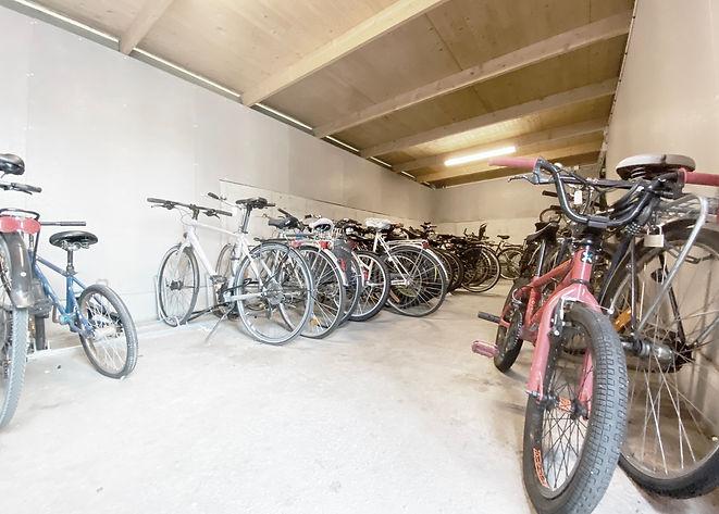 Cyklar i cykelförråd