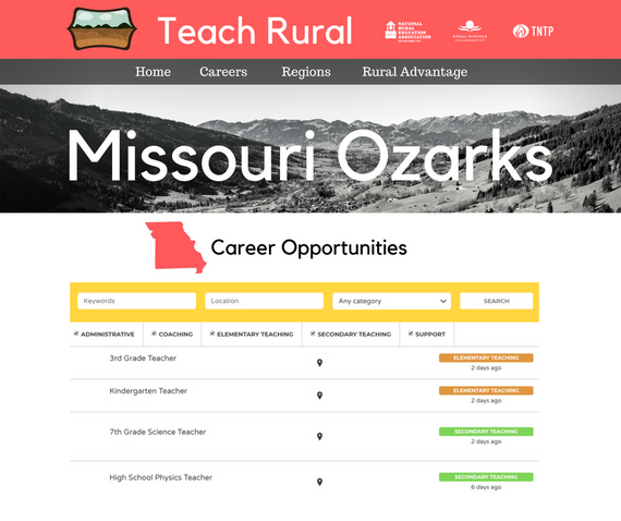 Job listings will be available for viewing within individual regions and communities.