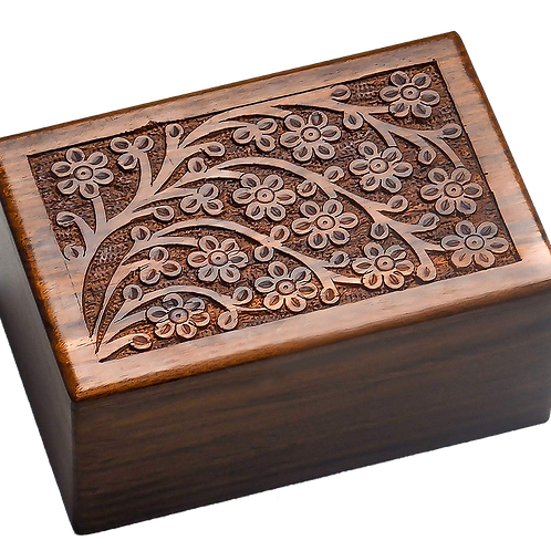 Elegant Rosewood 'Tree of Life' Pet Urn