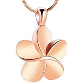 Rose Gold Eternity Flower Necklace
