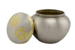 Silver & Gold Pet Urns