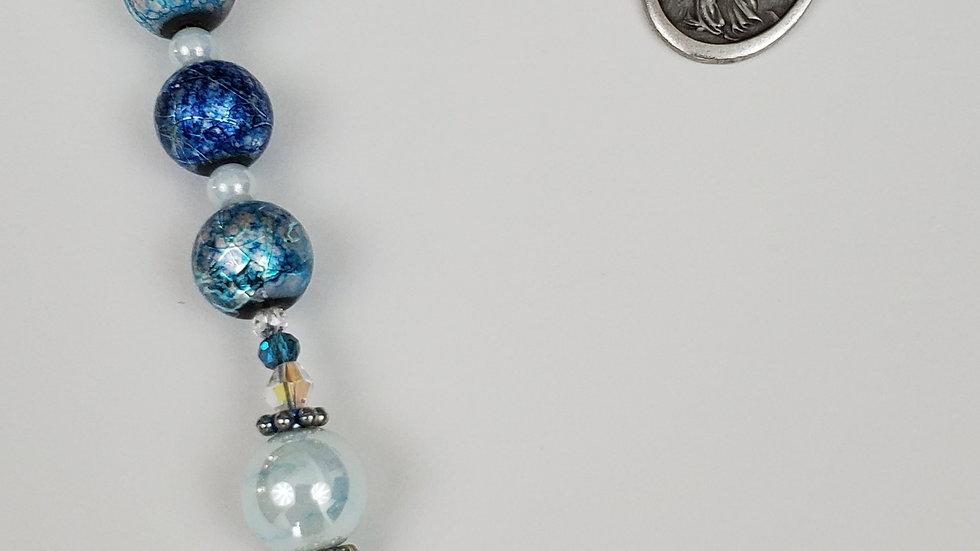 Multi Blue Glass Chaplet