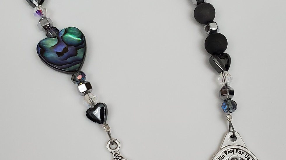 Silver Agate Abalone Chaplet