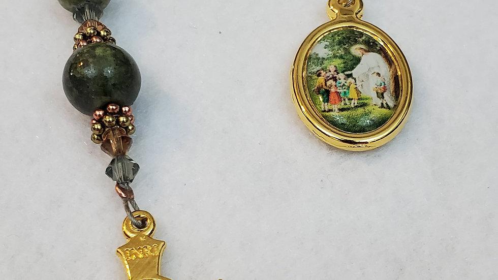 Green Marble Unakite Chaplet