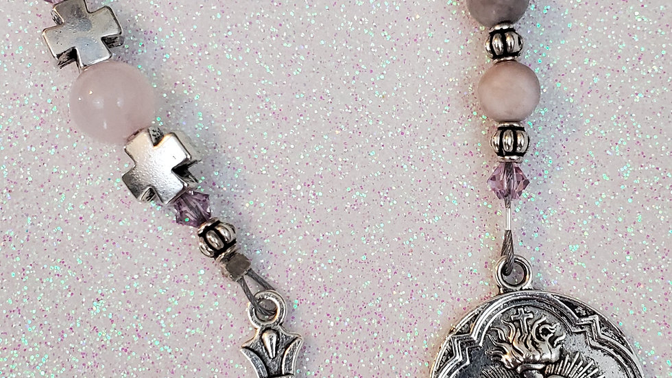 Pink Zebra Stone Chaplet