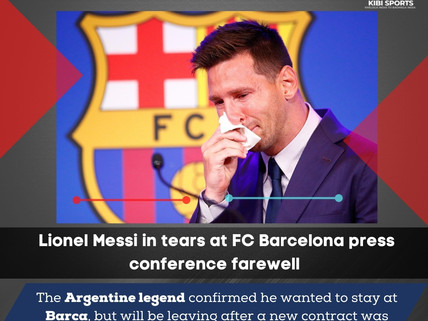 Lionel Messi breaks down in tears: 'Toughest moment of my career'.