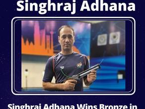 Tokyo Paralympics: Singhraj wins 10m air pistol SH1 bronze, Manish Narwal finishes 7th