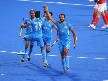 India Beat Great Britain 3-1 in Men's Hockey to Enter Top-Four For First Time in 41 Years
