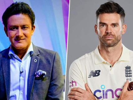 'Fantastic to see a fast bowler get up there' – Anil Kumble congratulates James Anderson