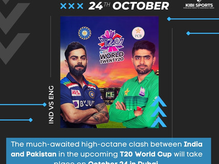 Big development, India to face arch-rivals Pakistan on October 24: T20 World Cup 2021