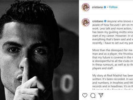 Ronaldo denies transfer rumors; slams disrespectful talks around his club future
