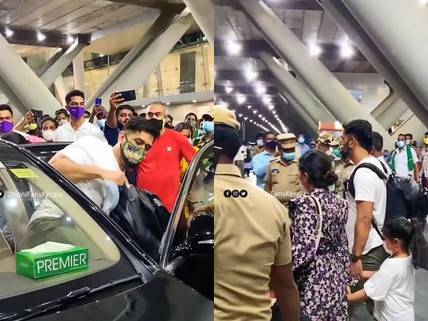 MS Dhoni arrives in Chennai before heading to UAE for IPL