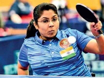 Paddler Bhavina Patel beats Shackleton 3-1  reaches table tennis knockout stages