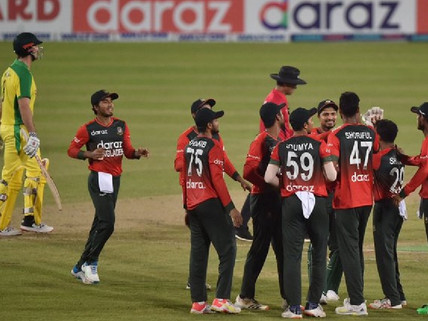 BANGLADESH CREATED HISTORY, WON THE T20 SERIES AGAINST AUSTRALIA FOR THE FIRST TIME