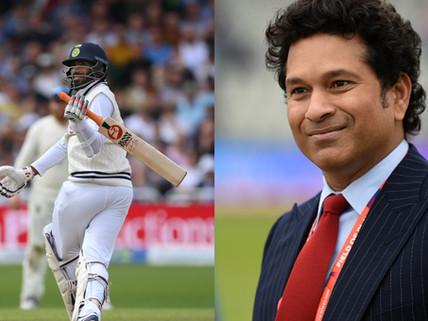 Sachin Tendulkar is impressed after Jasprit Bumrah smokes a thunderous pull shot for six