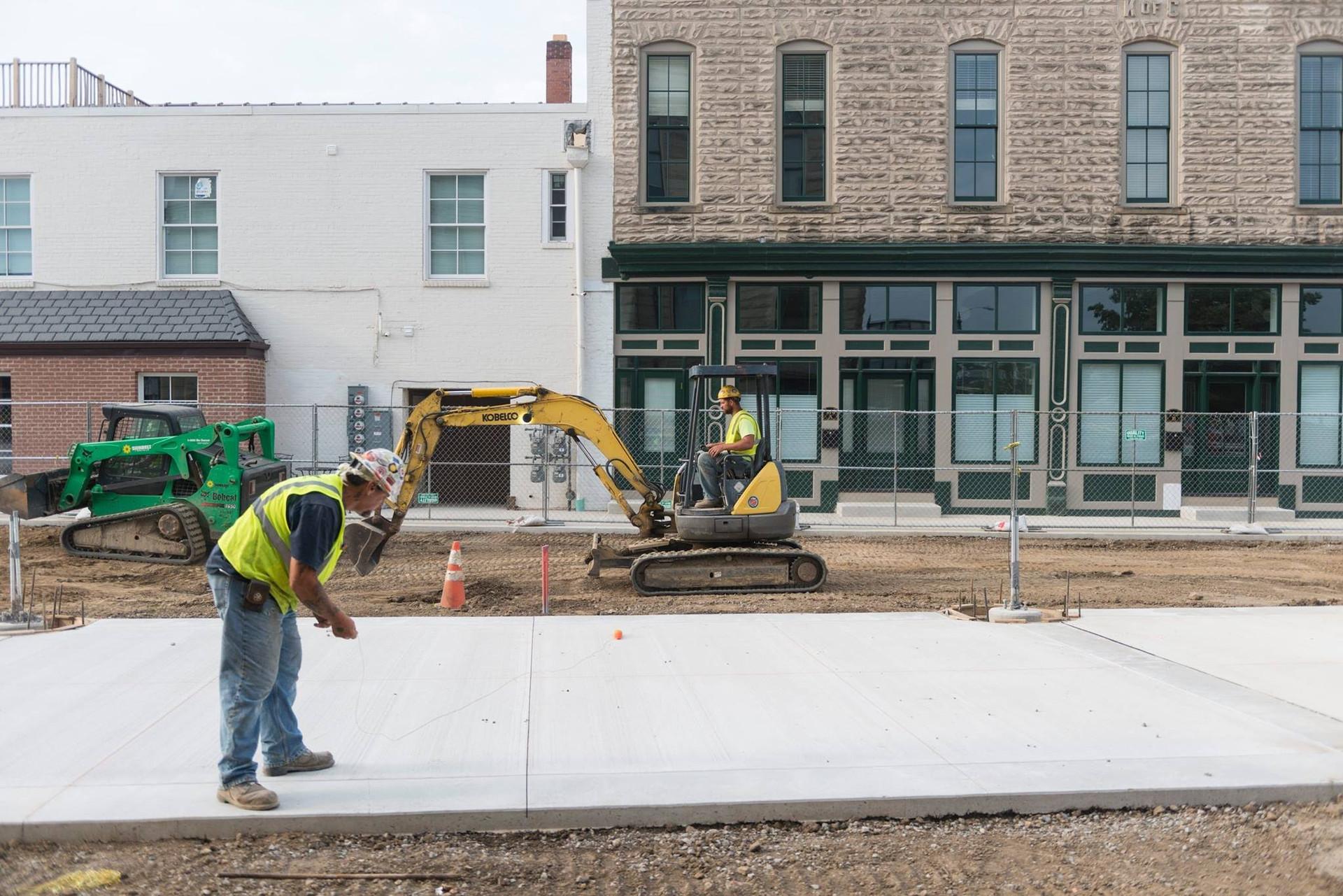 Dorney Plaza Walk Construction