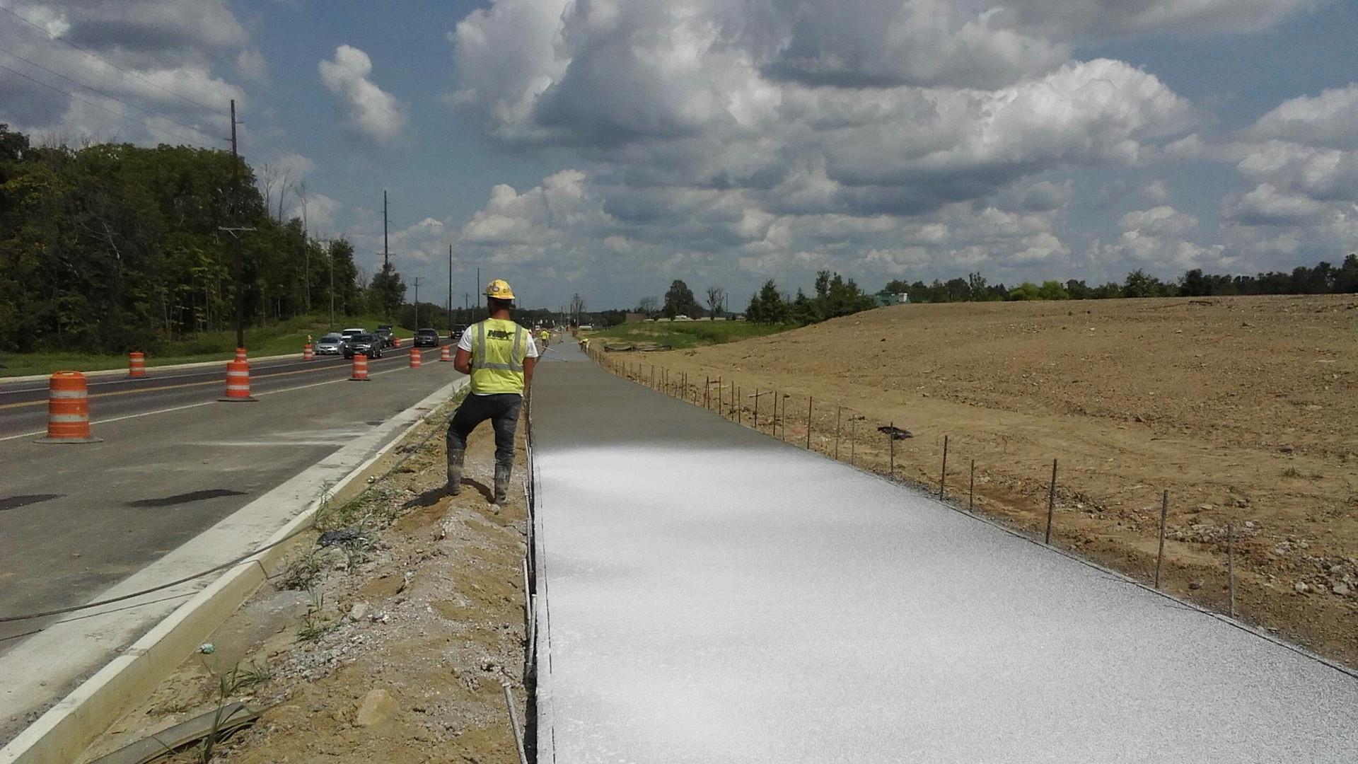 Trimble Road Walkway Construction