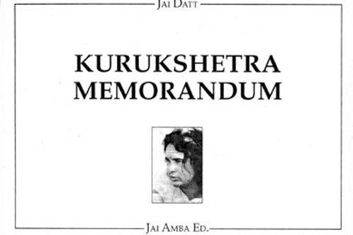Kurukshetra Memorandum libro