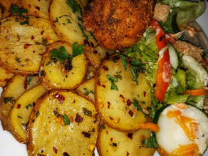 Herb Garlicky Potatoes