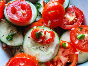 Spicy Cucumber and Tomato Salad