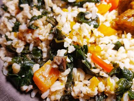 Bhaji and Pumpkin Rice (Cook Up)