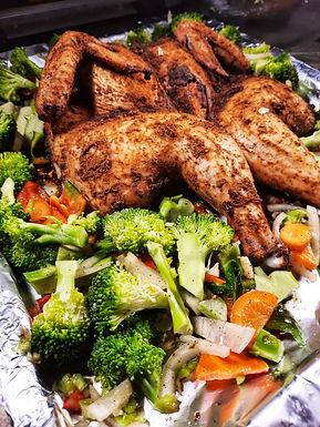 Oven Jerk Chicken with Veges