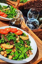 Mixed Greens & Chicken Salad with Balsamic Vinaigrette