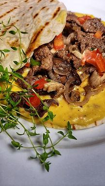 Beef & Mushroom Quesadillas
