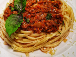Pasta and Bolognese