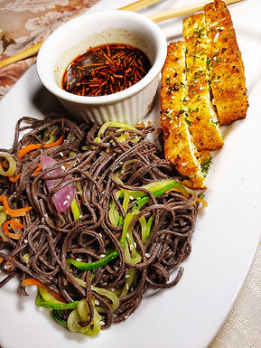 BlackBean and Zucchini Noodles