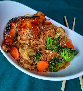 Rice Noodles and Vegetable Stir Fry