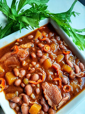 STEWED PINK BEANS with Smoked Turkey
