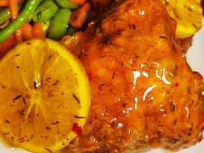 Orange Glazed Fried Chicken