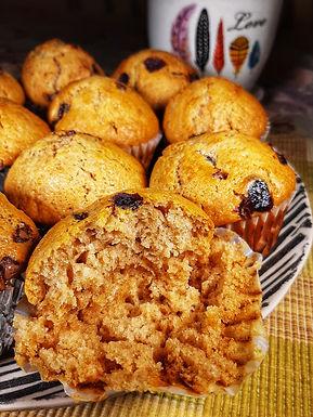 Vegan Chocolate Chip & Cranberry Muffins