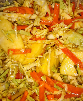 Cabbage and Apple Coleslaw with Mustard Vinaigrette