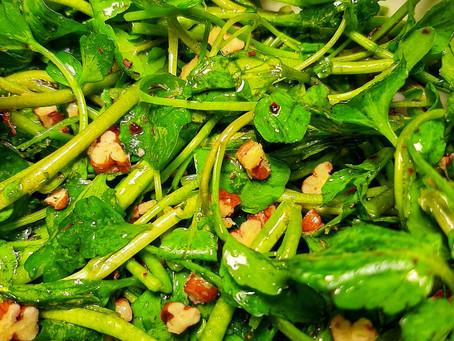 Watercress and Pecan Salad