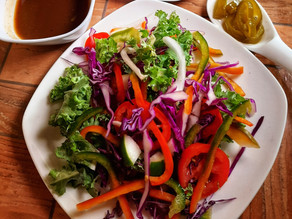 Kale and Sweet Pepper Salad
